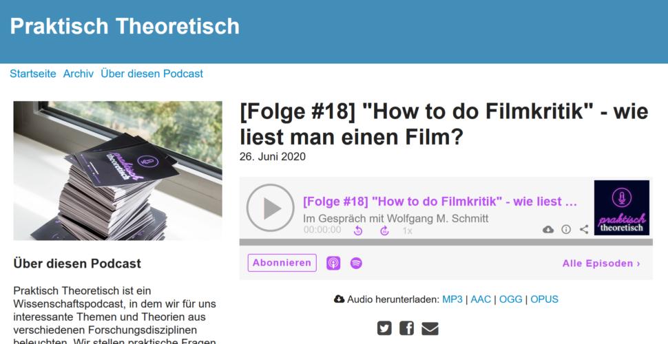 """""""How to do Filmkritik"""" / Podcast Theoretisch Praktisch"""
